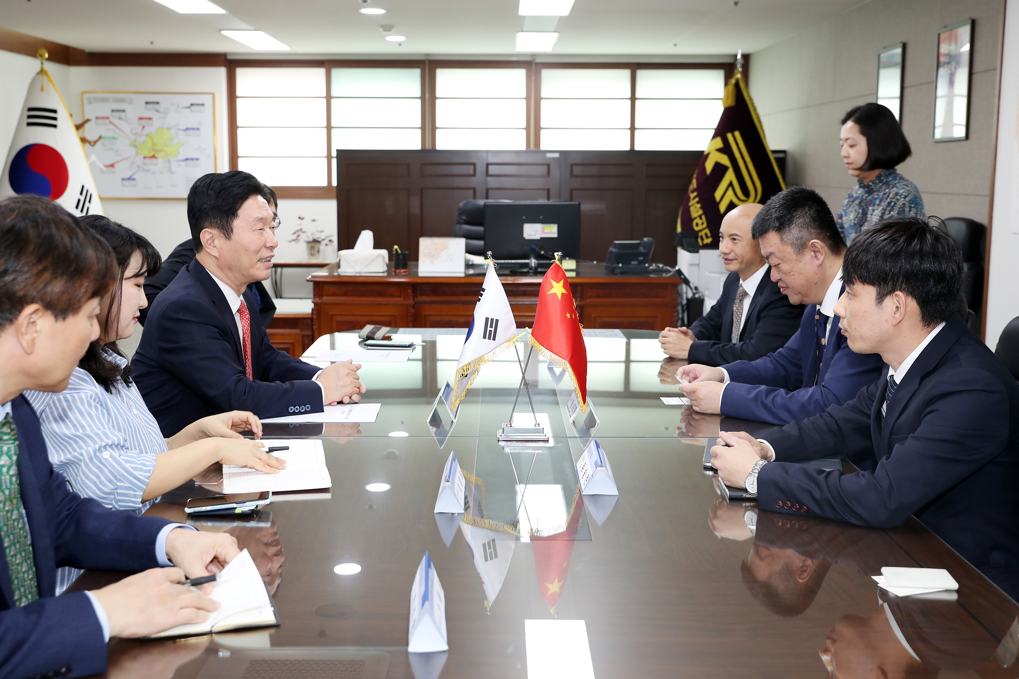 Visit by Chairman of China State Construction Overseas Development Co., Ltd. 사진