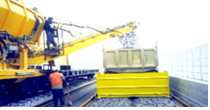 Laying of ballast gravel [2track] Image