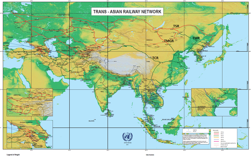 Trans-asian railway network Image