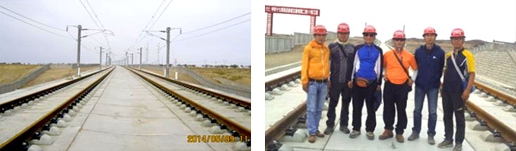 A panorama of completed construction of the Lan-Xing high-speed railway (Lanzhou-Xingang Urumuqi), The start area of the Xingang section on the Lan-Xing line